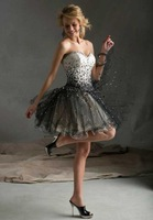 2014 Fashion sweetheart beading short Homecoming dresses Mini Pink cocktail dresses 2014 summer short dresses custom made 1122