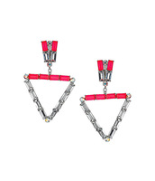 Order $16 automatically free shipping ,New arrival  triangle dangle earring ,gems stone earirings