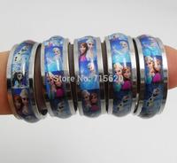 25pcs Frozen Stainless Steel Rings  Elsa & Ana Wholesale Children Lovely Jewelry Lots