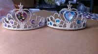 children frozen anna elsa tiara dress Elsa Anna princess crowns hearts tiara baby party hair accessories pageant hairbands gift