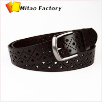 Paris Fashion Show Hollow Flower Leather Strap Belt for Women black color silver needle buckle waist belt accessories women