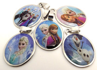 50pcs Frozen movie character Stainless Steel Pendants For kids Wholesale Jewelry Lots ( only pendants)