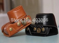 Free Shipping! PU Leather Camera Case Bag for sony NEX-3N NEX 3N 16-50mm Lens Camera