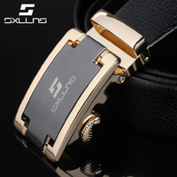 Sxllns 2014 New Fashion Genuine Leather Brand Belts For Men Automatic Buckle Strap Free Shipping