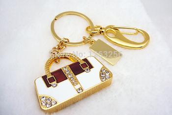 Розничная ювелирные изделия брелок кристалл роскошные сумочке форма usb флэш-накопитель ...