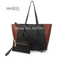 2014 New hand bags Totes for women handbag bag PU Zipper Free shipping women michaels totes,free shipping #866#5color