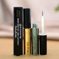 DHL free shipping 100pcs Makeup eyeliner Magic bling waterproof eyeliners liquid white gray coffee