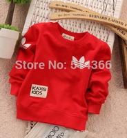 free shipping Autumn children clothing Round neck t shirt fashion boys girls Long sleeve t shirt children hoodies baby coat
