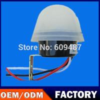 Manually set  waterproof automatic sensing photoreceptor road lighting control switch 2200W 220V