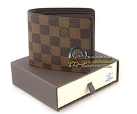 Free Shipping! HIgh Quality Fashion Men Wallets Famous Brand with Gift Box Leather Men's Wallet