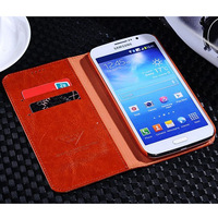 High Quality Brand Wallet sytle Protective Cover Case For Samsung Galaxy Mega 5.8 i9152 With Stand Carder Holder Drop