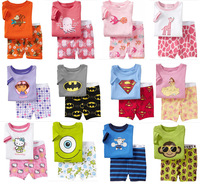 Baby Children pajamas 100% Cotton short sleeve T shirt + pant Children pajamas/sleepwear/clothing sets for 2-7 year
