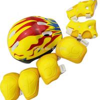 7pcs in 1 Set Skateboard Helmet Knee Elbow Wrist Protective Guard Pad Kid Skating Gear Roller Skate Helmet Protector Kit Set