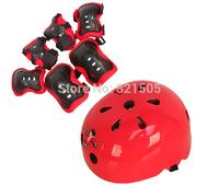 Children 7pcs/Set Helmet Knee Elbow Wrist Protective Guard Pad Set Kid Skating Gear Kid Helmet Protector Kit