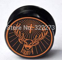 [Min. Order $20]Black Deer acrylic screw Plug Tunnel Ear Plug Flesh Tunnel Tunnel Gauges body jewelry  MJEPG39016