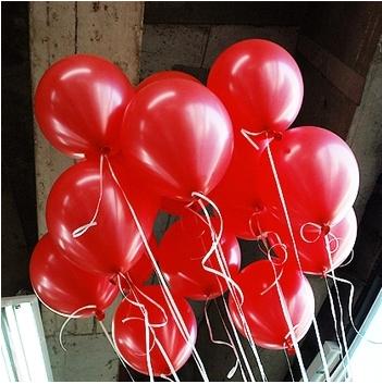 Libre shipping100pc/lote 10' inch1.2g rojo de la boda de cumpleaños evento de navidad decoración del partido globo de helio inflable juguetes