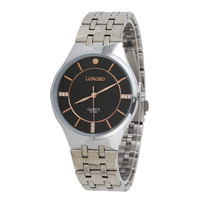 Waterproof Watch Brand New Fashion Jewelry Supplier Promotional Top Luxury Casual Man Steel Quartz Watch LONGBO-8776B