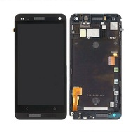 for HTC One M7 LCD Screen with Touch Screen Digitizer Assembly with Frame Black White Color By Free Shipping