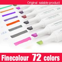 Finecolour marker pen/ twin art alcohol based permanent marker pen/72 colors with free bag