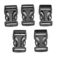 5pcs x 25mm Black Plastic Side Quick Release Buckles for Webbing Interlocking
