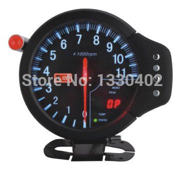 """5 """" 3 em 1 auto calibre TEMP ?GUA ?LEO RPM PRESS acessórios do carro óleo tac?metro temperatura imprensa água APEXi(China (Mainland))"""