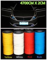 4700CM*2CM Super reflective strip car be light garland luminous stickers body decoration full reflectors wholesale Free Shipping