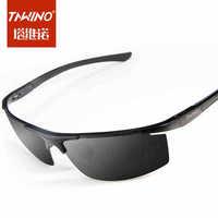 The new aluminum-magnesium sunglasses polarizer influx of people male men riding glasses glasses sunglasses driving car
