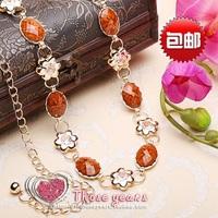Gemstone 2014 new fashion metal belt decorated Korean wild female diamond thin belt waist chain