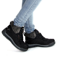 Free Shipping 2014 plush outdoor hiking boots women snow boots hiking shoes waterproof camping sport shoes