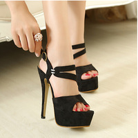 Europe and America High with Sexy Thin Heels Platform Floral Peep Toe Shoe Summer New High-heeled shoes