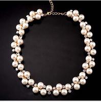 X1219 free shipping high quality wedding temperament elegant luxury pearl  collar bone short chain necklace