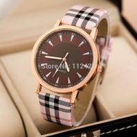 Promotion! Watches Women/men Ladies/Female Wristwatch Fashion quartz watches Electronic 2014 new clock Lattice Style Hours JP003