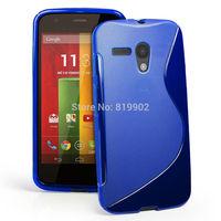 1pcs Hot S Line Skin Soft TPU Gel Case Skin Cover for Motorola Moto G DVX XT1032 XT1031,tracking number provided