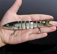 SF 5.5'' Multi Jointed Fishing Lure Bait  Life-like Herring Bass Pike Muskie