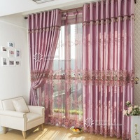 Genuine bedroom luxury villa living room curtains finished soluble embroidery embroidered Chinese-made curtains screens