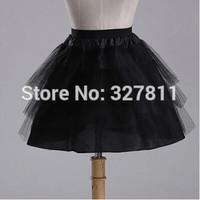 2014 new arrival hard yarn black puff skirt short design ballet maid equipment pannier wedding dress q15