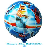 "Balloon happy Birthday Party Decoration plane balloon  Baby Kids Cartoon Balloons Gift  10pcs/lot  18"""