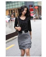 Ladies' Shirt Fashionable Style OL Tops Women Blouse Hot Sale Women Blouses 2014  Long Sleeves Shirts Free Shipment