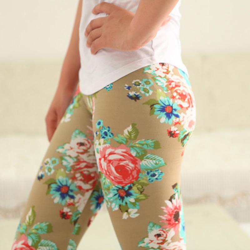 2015 new women's cotton printed graffiti leggings nine women(China (Mainland))