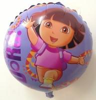 "Balloon happy Birthday Party Decoration Dora balloon  Baby Kids Cartoon Balloons Gift  10pcs/lot  18"""
