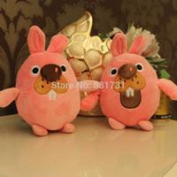 Hot! 2014 New Arrival Lovely Pokopang High Quality 18CM Cute Rabbit Plush toys free shipment Cartoon child dolls 1 pcs