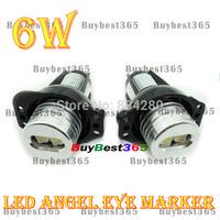 Xenon White 6W Angel Eyes LED Light Halo Ring Marker for 3 series E90 E91 Pre-Facelift