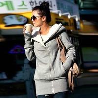 New Winter 2015 Woman Blusas Comfortable Fabric Mid-Long Style Parkas Coat Fashion Women  Dress