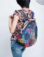 2014 new Korean hit color personalized fashion backpack leisure backpack