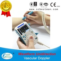 vascular doppler monitor  with LCD screen,waveform built-in battery connect PC