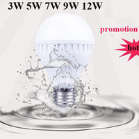Wholesale - 1pcs/lot  LED bulb 3w 5w 7w 9W 12W 15W 85- 265V E27 led lamp cold/warm white smd led Light spotlight free shipping