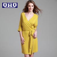 High Quality QHQ Spring And Summer Sexy Nightgown, Modal Bathrobe V Collar Woman Thin   Pajama Sets
