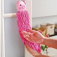 Y003 Chenille animal head cartoon towel folded towel to  dry towel hanging