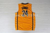 #24 PG Paul George Brand New Jerseys Yellow Basketball Jersey