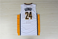 #24 PG Paul George Brand New Jerseys White Basketball Jersey
